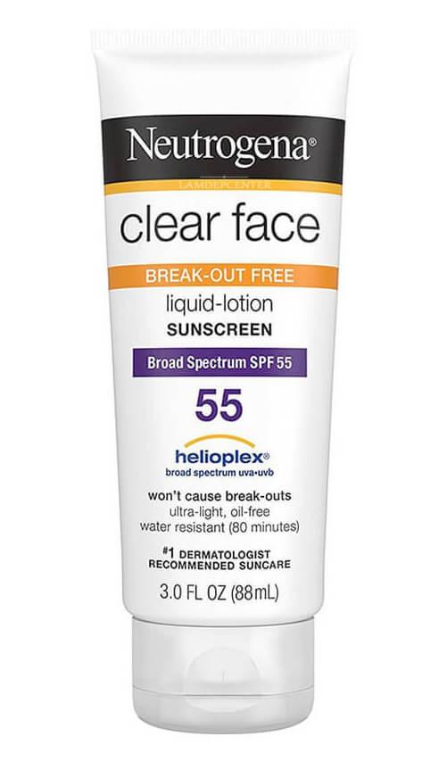 Kem chống nắng cho nam Neutrogena Clear Face