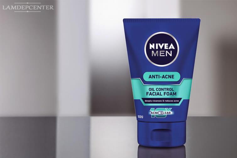 Sữa rửa mặt trị mụn cho nam Nivea Men Anti-Acne Facial Foam